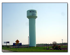 Webster City water tower